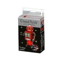3D RED TIN ROBOT CRYSTAL PUZZLE (6/48)
