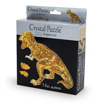 3D BROWN T-REX CRYSTAL PUZZLE (6/48)