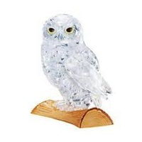 3D CLEAR OWL CRYSTAL PUZZLE (6/48)