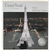 3D BLACK EIFFEL TOWER CRYSTAL PUZZ (6/24