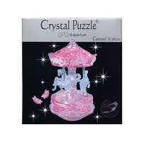 3D PINK CAROUSEL CRYSTAL PUZZLE (6/24)